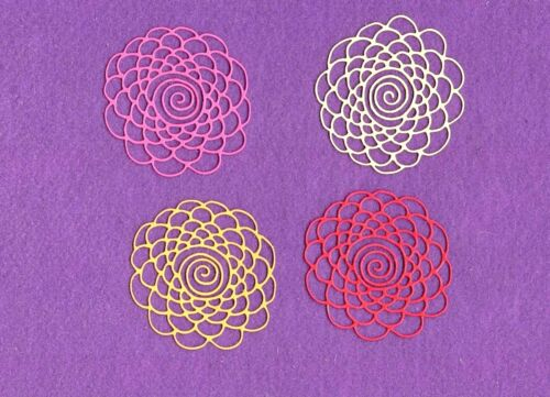 FLOWER SWIRL CENTER die cuts scrapbook cards
