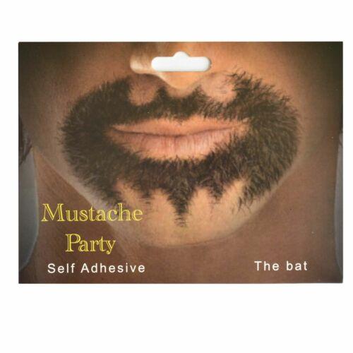 Self Adhesive Fake Moustache Mustache Beard Halloween Fancy Dress Party Costume