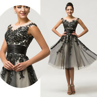 Teens Short Applique Party Evening Gown Prom Cocktail Wedding Bridesmaid Dresses