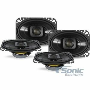 4-POLK-AUDIO-300W-4-x-6-034-2-Way-Coaxial-Car-Marine-Speakers-DB462-2-Pairs