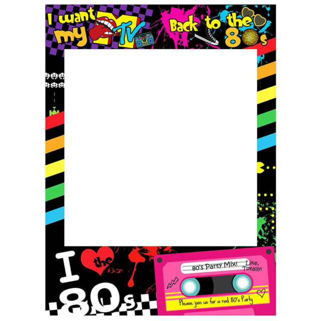 Personalised Party Selfie Frame Photo Booth Props 80s Retro Cassette//Hen Night