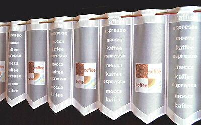 Kaffee Scheibengardine Küchengardine in 8 Breiten Bistrogardine Espresso Neu