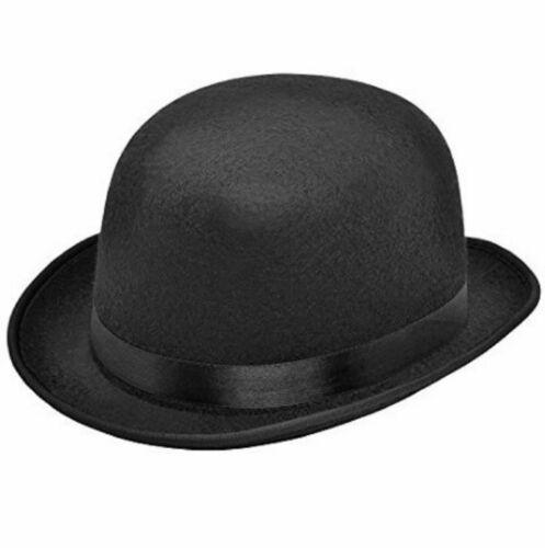 Adulti Nero Feltro Bombetta Vittoriano Edoardiano 1920//30s Costume Cappello