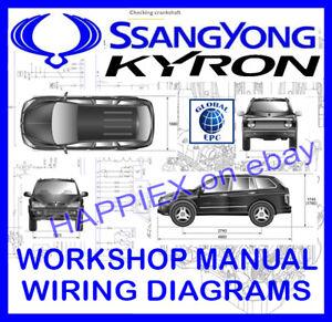 SSANGYONG KYRON WORKSHOP SERVICE REPAIR MANUAL & WIRING ...