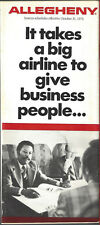Allegheny Airlines system timetable 10/31/76 [6031] (Buy 3+ Save 25%)