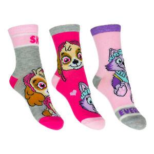 3-12-Paar-Paw-Patrol-Kinder-Socken-Maedchen-Struempfe