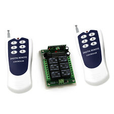 DC12V 6CH RF Wireless Remote Control Switch System 2Transmitter+1Receiver 315MHz