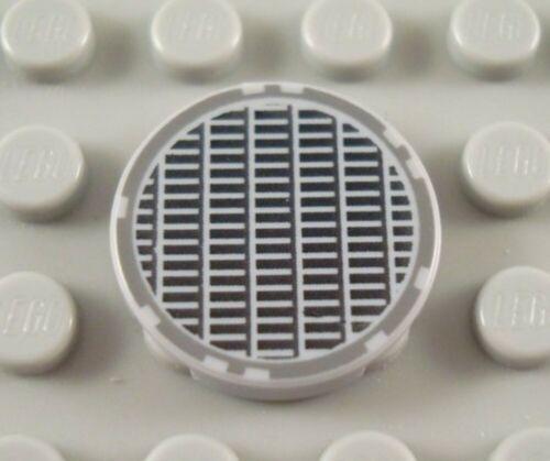 LEGO Light Bluish Gray 2x2 Round Star Wars Grill Flat Smooth Tile Piece
