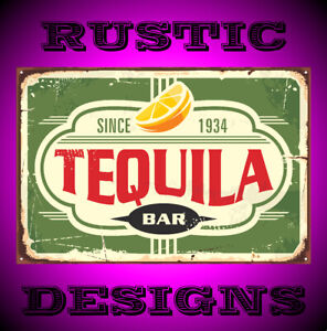 Tequila bar vintage Rusty Rustic sign man woman cave pub 9663 pub ideal gift