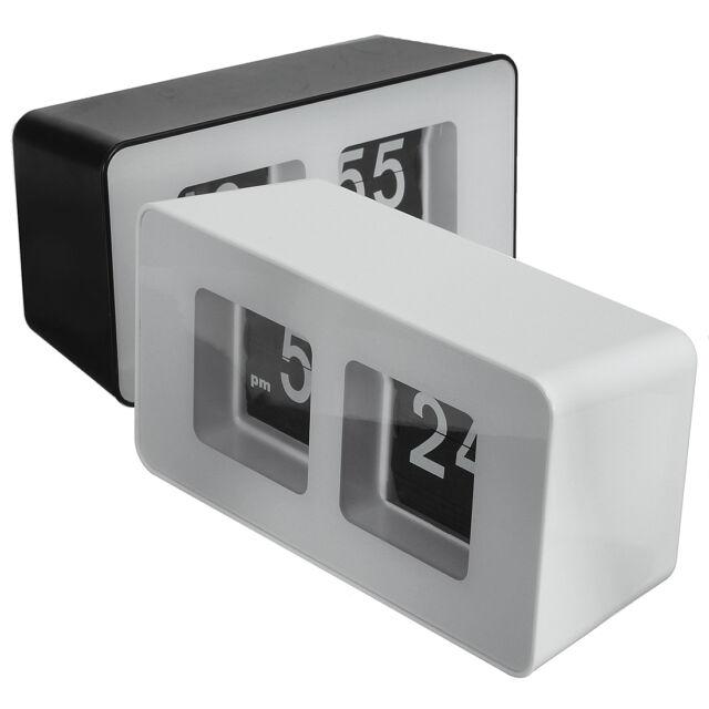 Unique Retro Auto Flip Clock Cube Desk Table Wall Kitchen Simple Modern Design