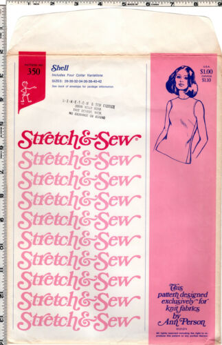 CHOICE STRETCH /& SEW Ann Person Master Sewing Patterns for Misses/' Clothing Top