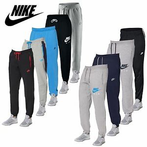 Nike-Mens-Cuffed-Fleece-Joggers-Gym-Running-Tracksuit-Bottoms-Pants-Ankle-Zip