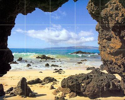 30 x 24 Mural Ceramic Ocean Coast Backsplash Tile #355