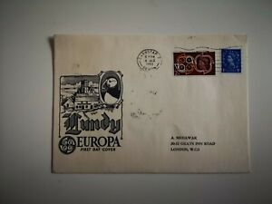 Lundy Europa First Day Cover London 1961 Devon Postmark Stamps Cover