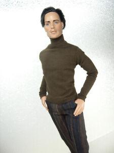Brown-T-Neck-Top-amp-Striped-Dress-Pants-Handmade-by-KK-Fits-17-inch-Matt-O-039-Neill