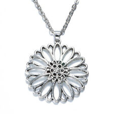 NEW 1pcs Flower Women Vintage Tibet silver Pendant Necklace Long Chain Jewelry C