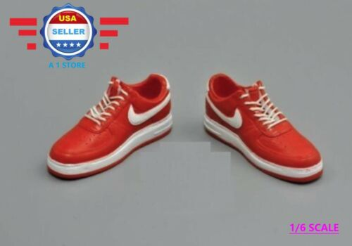 1//6 scale NIKE Style RED Sneakers Shoes HOLLOW for 12/'/' MALE FIGURE PHICEN