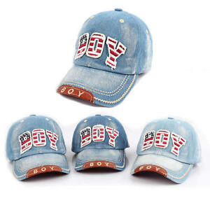 f9ed712da45 Baby Girls Boys Hat Children Caps Kids Baseball Cap Denim Casquette ...