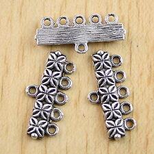 20pcs Tibetan Silver 5-to-1 Connectors Findings H0712