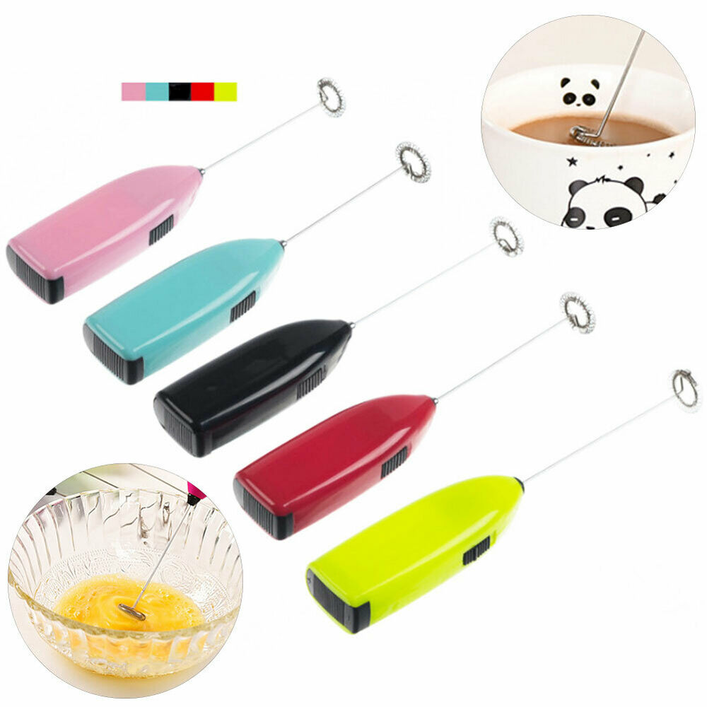 Milk Frother Whisk Handheld Battery Operated Electric Coffee