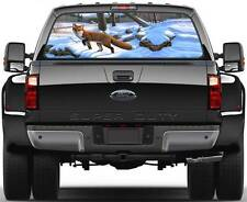 Fox in Winer Hunting Window Graphic Decal Sticker Truck SUV Van Car