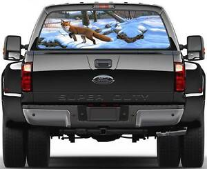 Fox In Winer Hunting Window Graphic Decal Sticker Truck SUV Van - Rear window hunting decals for trucksrear window graphics deer ebay