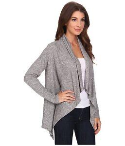 Bobeau-Plus-Size-Gray-Sweater-Cardigan-2X-Heathered