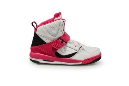 White Black Pink Trainers 524863 158 Kids Nike Jordan Flight 45 GP