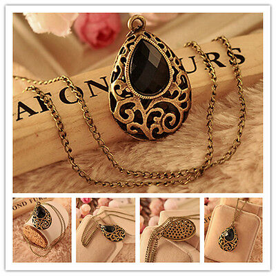 Women New Colden Crystal Chunky Chain Statement Pendant Necklace Fashion Jewelry