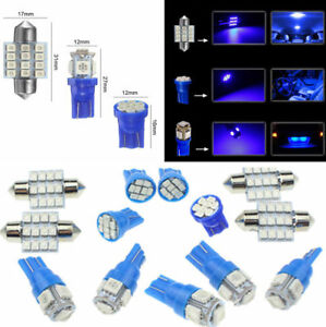 13PCS-T10-Blue-LED-Bulbs-Car-Interior-amp-31mm-Map-Dome-License-Plate-Light-Lamp