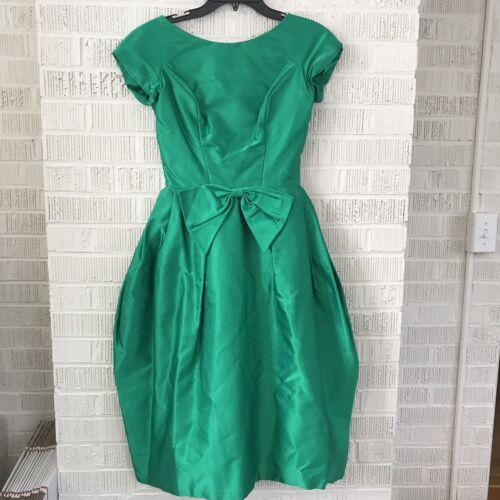 Vintage 50s Party Dress Lorrie Deb Size XS/S Green
