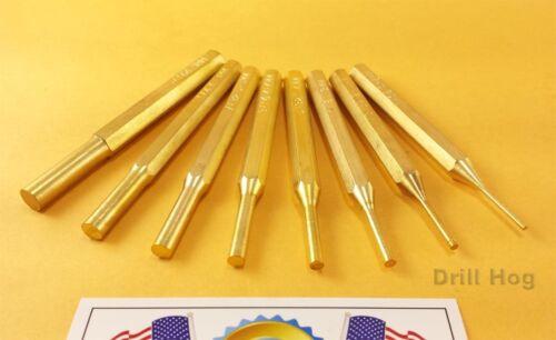 8 Pc Brass Punch Set Drift Pin Set Punch Roll Spring Gunsmith Gun Cleaning