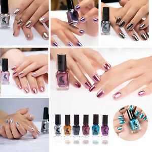 Image Is Loading Metallic Nail Polish Magic Mirror Effect Chrome