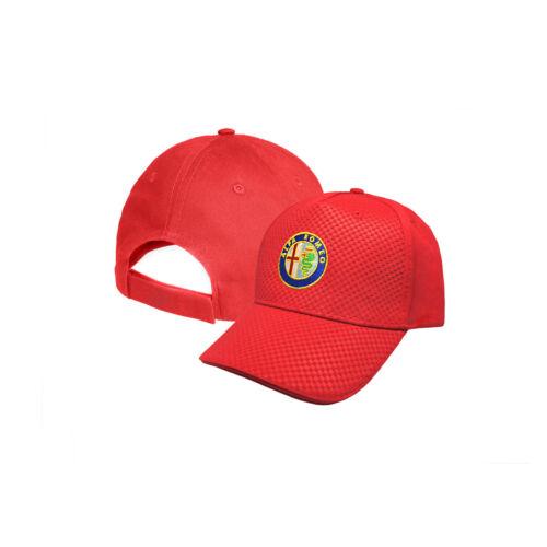 Alfa Romeo CARBONIO Cappello Ricamato Cappellino Baseball Cap Uomo Donna Regalo