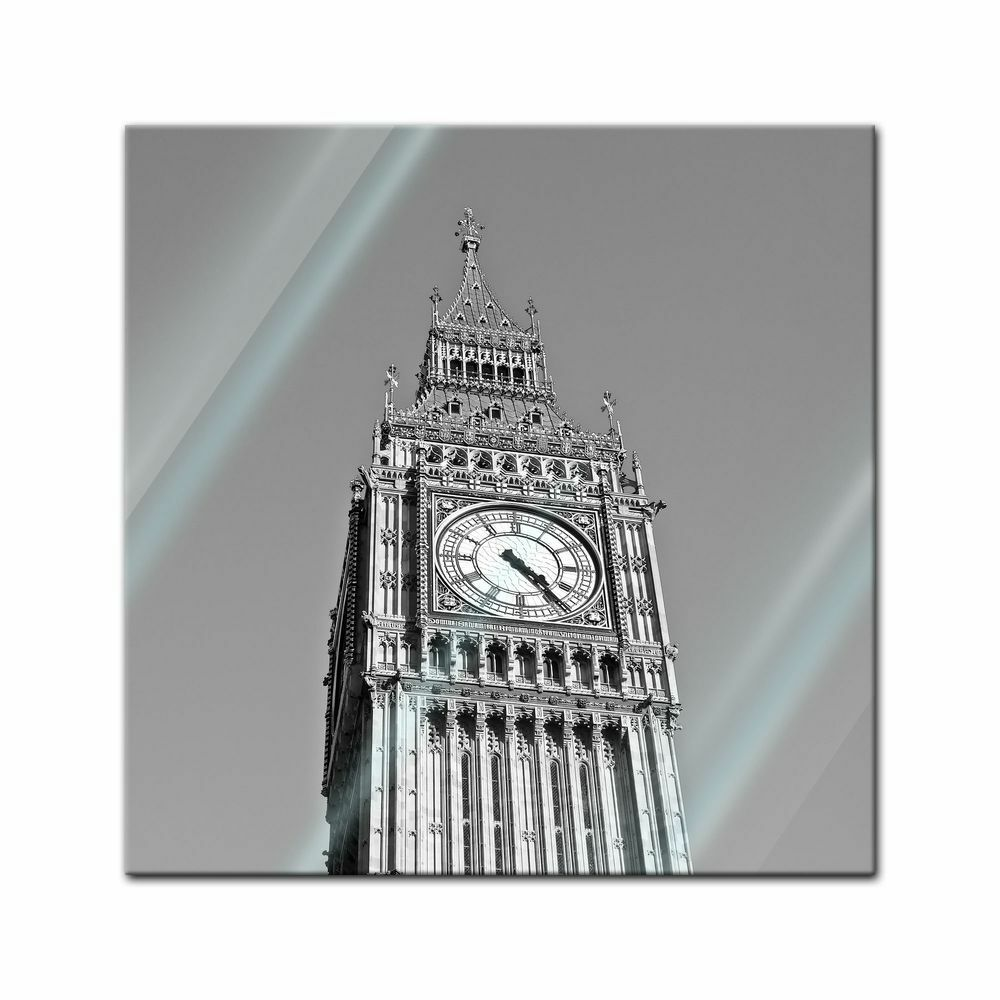 Glasbild - Big Ben sw