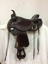 "Circle Y 16"" 1567 Gold Creek Flex2 Western Trail Saddle--Full Quarter Horse Bar."