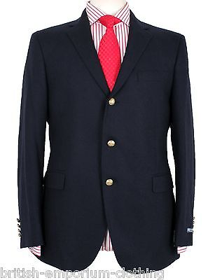 RALPH LAUREN Navy SOFT FLANNEL WOOL Sports Jacket/Blazer BNWT Made In Italy UK40