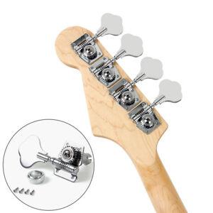 bass guitar tuning pegs keys tuners machine heads open gear vintage 4r chrome ebay. Black Bedroom Furniture Sets. Home Design Ideas