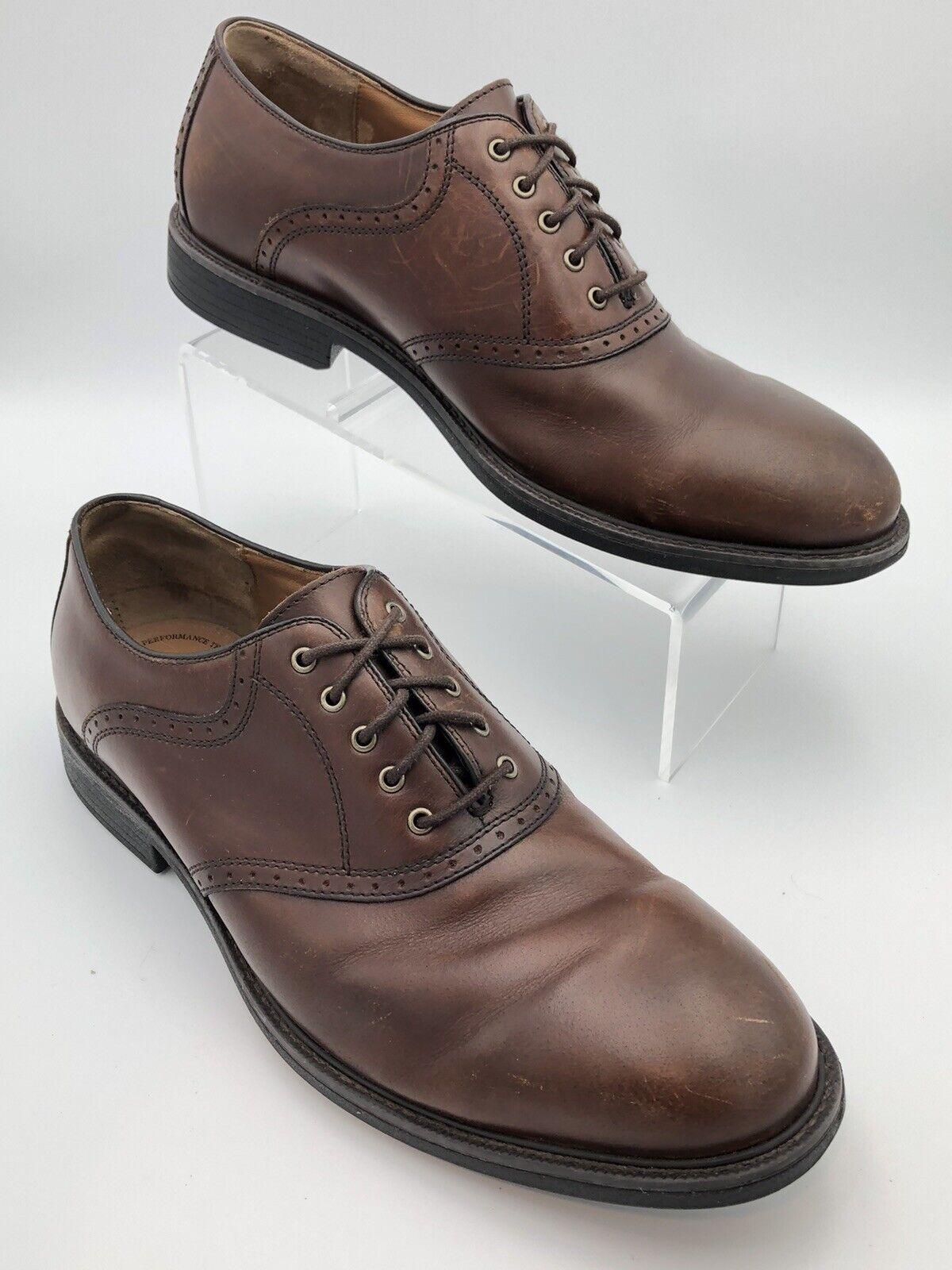 JOHNSTON & MURPHY XC4 Waterproof Brown Sheepskin Oxford Dual Width Shoes Sz 11 M