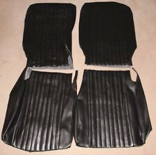 CLASSIC FIAT 500 L SEAT TRIM KIT UPHOLSTERY FRONT AND REAR SEAT COVERS BLACK NEW