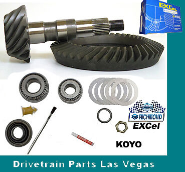 "Install Kit 1974-1999 Richmond Excel Chevy 8.5/"" 10 Bolt 4.56 Ring /& Pinion Set"