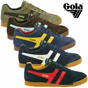 Gola Harrier Suede Classic Vintage Lace-Up Sneakers Mens Trainers Low Top Shoes