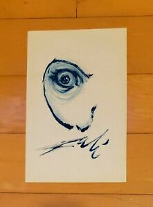 """SALVADOR DALI AUTHENTIC -DALI VISION-  13"""" x 8.5"""" INK ON PAPER HAND DRAWING"""