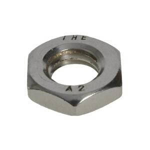 M5 Half Nut 5mm Metric Coarse Thread Hex Lock Nut - Stainless Steel G304