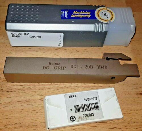 Iscar Abstechhalter DGTL 20B-3D40 für DGN DGL DGR 3102 3100...DO GRIP Abstechen