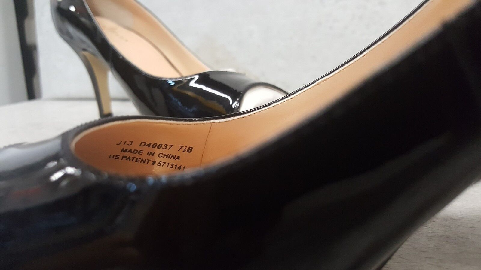 Cole Haan Air Lainey Black Patent Pumps open toe toe toe OT sz 7 B FREE SHIP 29fc51