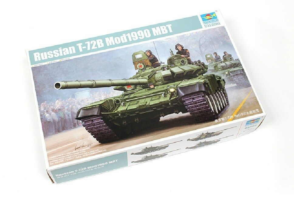05564 Russian T-72B Mode.1990 MBT Battle Tank Model Kit 1 35 Trumpeter Static