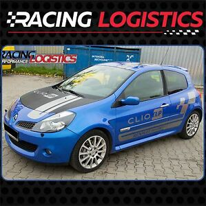 Renault Clio Sport >> Details About Renault Clio Sport Cup Conjuto Fall Mk3 Vinilo Adhesivo Pegatina Rayas Racing Rs Show Original Title