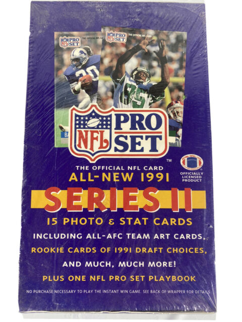 NEW Factory Sealed NFL Pro Set 1991 Series Two 2 II FOOTBALL TRADING CARDS BOX