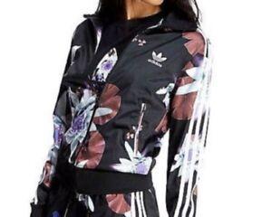 survêtement Fleur Veste noire femmes Firebird pour noire à de fleurs 5rqSqYH7